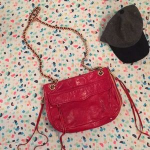 ❤️❤️Rebecca Minkoff Leather Bag-Red GORGEOUS